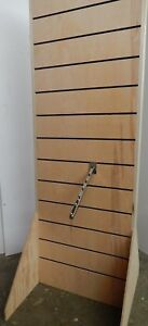 Free Standing Slat Wall Streamline Display Unfinished Wood