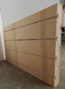 Slat Wall Display Panel Unfinished Wood