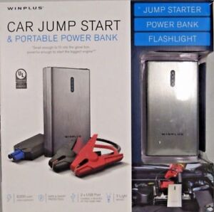 Portable Automotive Battery Charger Portable Power Supply 2 In 1 Winplus Cable