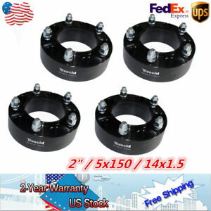 4pcs 2 5 lug Hubcentric Black Wheel Spacers Adapters 5x150 For Toyota Tundra