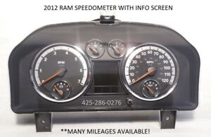 12 Dodge Ram Gas 5 7 Evic Display Speedometer Instrument Cluster many Mileages
