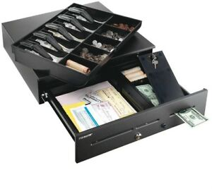 Home High security Cash Drawer Safe W 3 Media Slots W Removable Tray Black