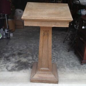 Vintage Church Podium Pulpit Wood Lectern Altar Catholic Lecture Stand Speaker