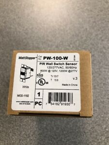 Wattstopper Pw 100 w Pir Wall Switch Occupancy Sensor new In Box