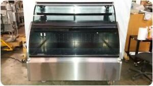 Structural Concepts Hudlr5652 Curved Glass Refrigerated Display Bakery Case