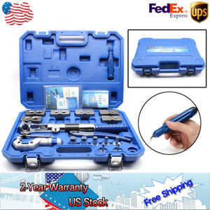 New Wk 400 Hydraulic Pipe Expander Set Pipe Fuel Line Flaring Tools Steel Ups