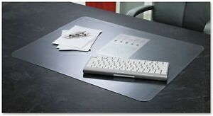 Desk Pad With Microban Matte Clear Transparent Flexible Vinyl Protective Cover