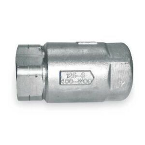 Apollo 6210401 3 4 Fnpt Stainless Steel Ball Cone Spring Check Valve
