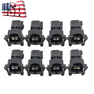 8x New Fuel Injector Connector Adapter For Ev6 To Ev1 Uscar Ls2 Ls3 Lsx Ls1 Lt1