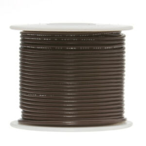 22 Awg Gauge Stranded Hook Up Wire Brown 250 Ft 0 0253 Ptfe 600 Volts