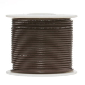 22 Awg Gauge Stranded Hook Up Wire Brown 500 Ft 0 0253 Ptfe 600 Volts