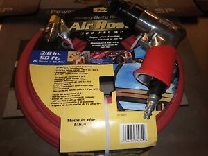 New Sioux 3 8 Reversible Drill W 50 Ft 3 8 Parker Hose Fitting Kit