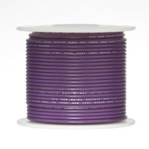 22 Awg Gauge Stranded Hook Up Wire Violet 500 Ft 0 0253 Ptfe 600 Volts