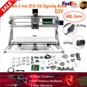 3axis Mini Cnc Router Engraver Machine Grbl Control Er11 a Aluminum plastic New