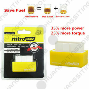 Car Nitro Obd2 Performance Tuning Chip Box For Gas petrol Vehicles Plug Drive
