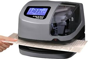 Electronic Time Clock Employee Stamp Machine Digital Attendance Date Recorder
