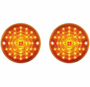 1955 1956 1957 Chevy Truck Amber Led Parking Light Amber Lens Pair 55 56 57