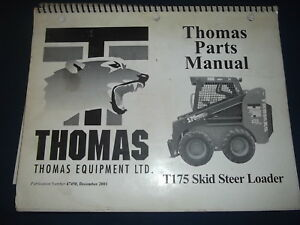 Thomas T175 Skid Steer Loader Parts Manual Book Catalog Original