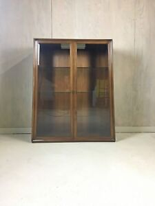 Mid Century China Cabinet Walnut