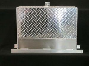 Upright Hydraulic Oil Tank Reservoir 50 Gallons Aluminum With Mounting Kit