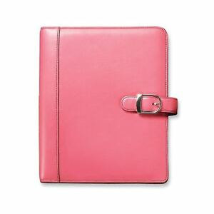 Day timer 48434 Pink Ribbon Loose leaf Organizer Set 5 1 2 X 8 1 2 Pink Lea