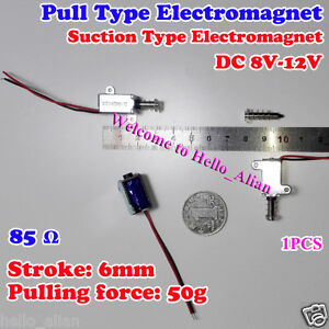 Dc 12v Micro Pull Type Electromagnet Suction Electric Solenoid Magnet Stroke 6mm