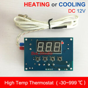 Dc 12v High Temperature K thermocouple Digital Thermostat Temp Controller Switch