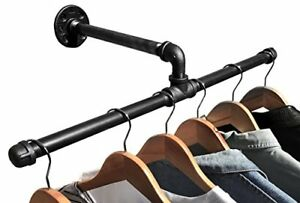 Industrial Pipe Wall Mount Clothing Garment Rack By Diy Cartel Hardware Only