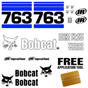 Bobcat 763 V2 Skid Steer Set Vinyl Decal Sticker Bob Cat Made In Usa 20 Pc Set