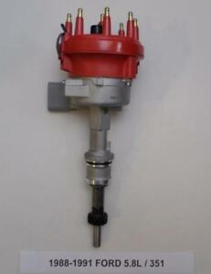 1988 1991 Ford 5 8l 351 Efi Distributor Electric Fuel Injection Red New