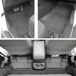 4pcs 2 Door Front And Rear Floor Liners For 2007 2013 Jeep Wrangler Jk