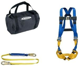 Aerial Kit W Safety Basewear Std Harness And Amp 6 Ft Decoil Lanyard Tool