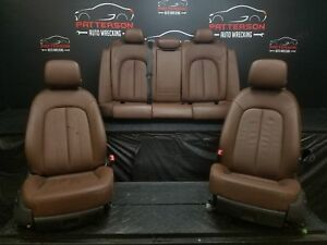 2013 Audi A6 Front Rear Brown Leather Bucket Seats Trim Code Vb Read Notes