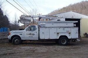 1990 Ford F 450 W Altec Bucket Truck Boom Stahl Utility Bed