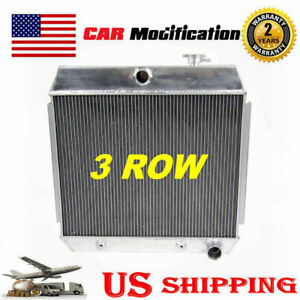 3 Row Aluminum Radiator For 1955 1957 Chevy Bel Air Nomad V8 Only