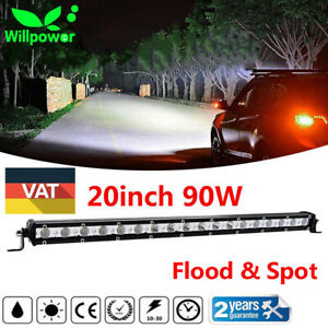 20inch 90w Single Row Cree Led Light Bar Spot Flood Super Slim Cree Driving Lamp