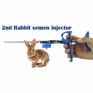 Stainless Steel Artificial Insemination Injection Syringe Equipment For Rabbit