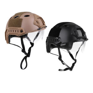 Lancer Tactical Fast Helmet Cycling Helmet Head Protector Retractable visor