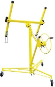 Home Building Materials Construction Rolling Drywall Panel Hoist Lifter Yellow