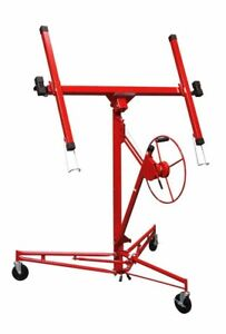 Home Building Materials Construction Rolling Drywall Panel Hoist Lifter Red