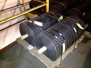 New Unused Carbon Steel Clinched Selvage Conveyor Belting 16 Wide X 40 Ft Long