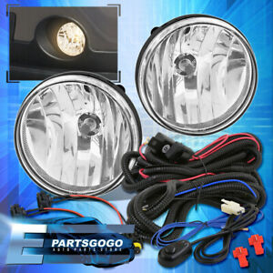 07 13 Sierra 1500 Clear Replacement Driving Fog Lights Lamps Wiring Harness