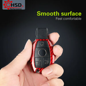 Carbon Fiber Car Key Cover Case Shell For Mercedes Benz W205 4 212 C S E G Class