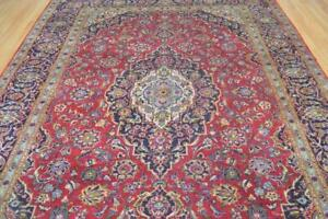 8 3 X 11 3 Genuine S Antique Persian Kashan Hand Knotted Oriental Wool Area Rug