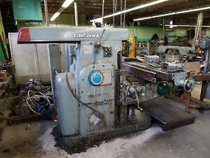 Cincinnati 520 15 Horizontal Mill With Vertical Head
