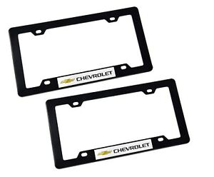 X2 Chevrolet Racing Abs Plastic License Plate Frame For Chevrolet Impala Malibu