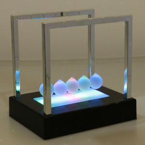 Physics Science Toy Decor Light Up Newtons Cradle Great Gift