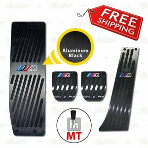 Aluminum Mt Fuel Brake Foot Pedal Set E30 E36 E46 E87 E90 E91 E92 E93 M3 Black