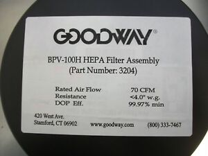 Goodway Bpv 100h Hepa Filter 1 Ea