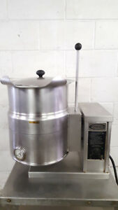 Cleveland Tilt Steam Kacked Kettle Ket 5t 5 Gallon Tested 208 Volt